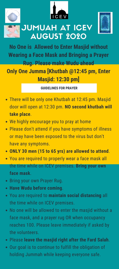 ICEV  Jumuah Update August 2020