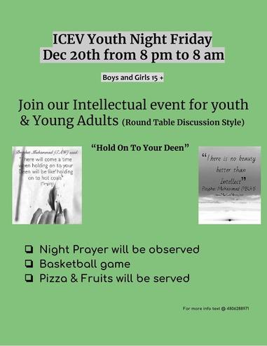 December 20 ICEV YOUTH QIYAM